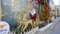 This is not a Christian city at all, but in some of the more western areas you can find amazing Christmas decorations.